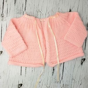 Other - ❄ 3/$20 Handmade Coral Knit Lace-up Cardigan
